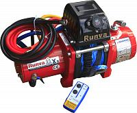 Лебёдка электрическая 12V Runva 9500 lbs 4350 кг (короткий барабан кевлар)