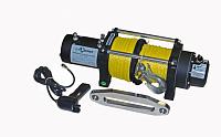 Лебедка электрическая СТОКРАТ HD 9.5 WP, 12V, с синтетическим тросом.