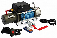 Лебёдка электрическая 12V Electric Winch 9500 lbs 4310 кг (синтетический трос)